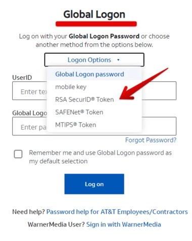 MyCSP AT&T RSA SecurID Token