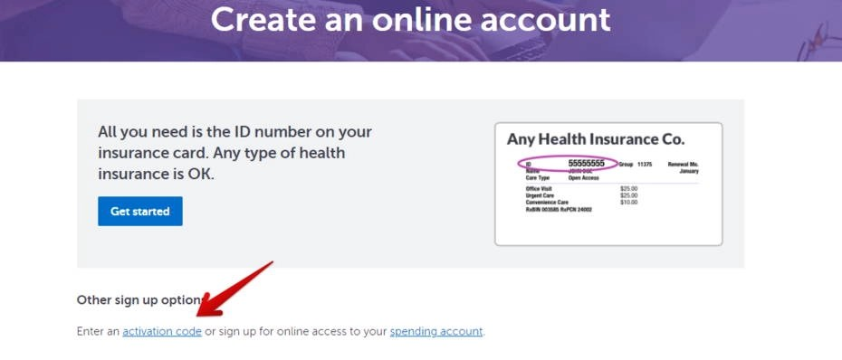 Create an account With Activatio code - HealthPartners Park Nicollet