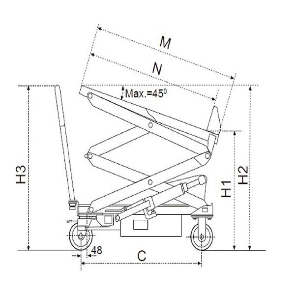 Tilting Mobile Lifting Table