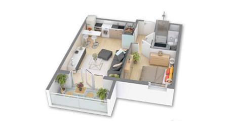 Appartement 2 pices  Paris Marseille Bordeaux Rennes Nantes