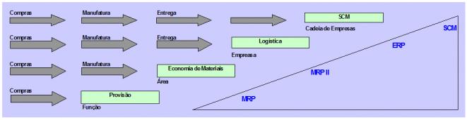 evolucao dos softwares organizacionais - ERP