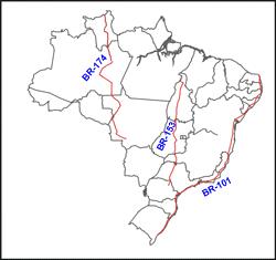 rodovias longitudinais do Brasil