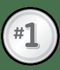 #1 on badge