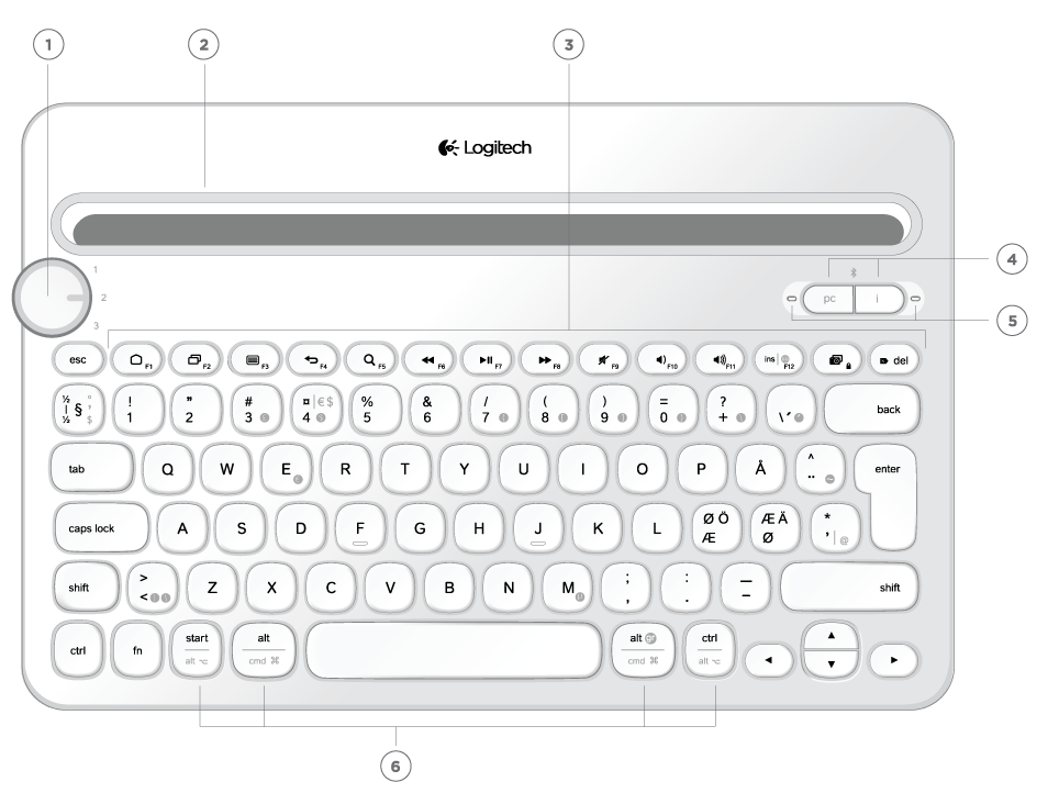 Logitech® Bluetooth® Multi-Device Keyboard K480