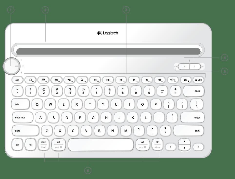Teclado Bluetooth Logitech K480 Pc, Ipad, Tablet Blutuf