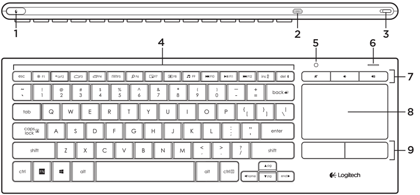 Illuminated Living Room Keyboard K830 Logitech