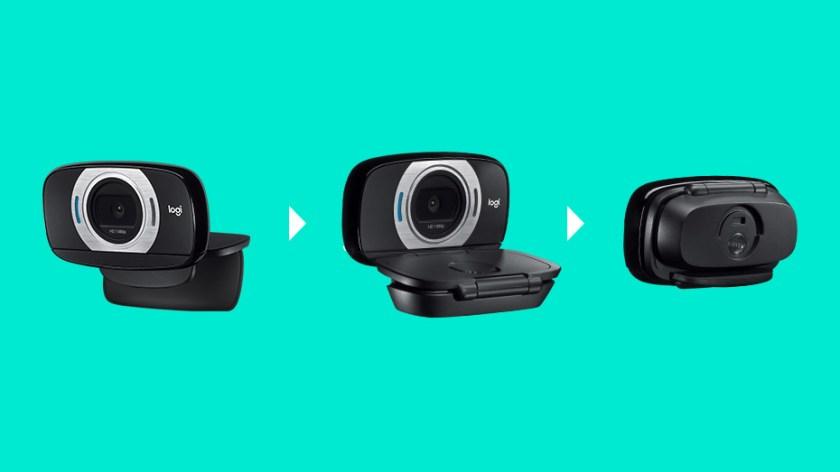 Logitech C615 Fold-and-Go HD Webcam, 1080p Video with Autofocus