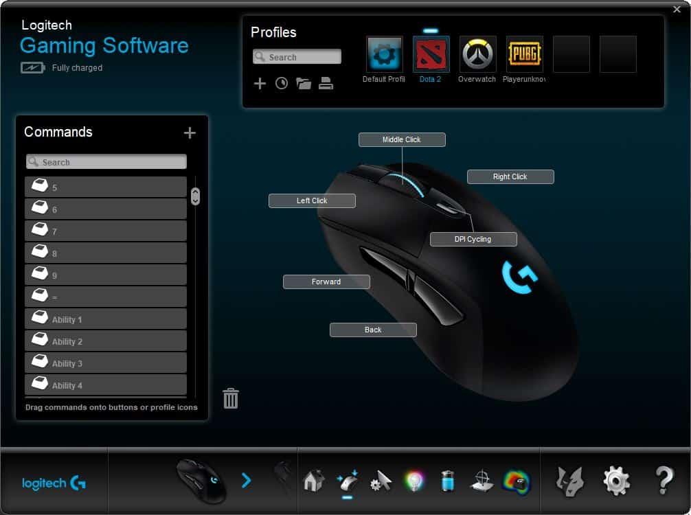Logitech gaming software auto profile