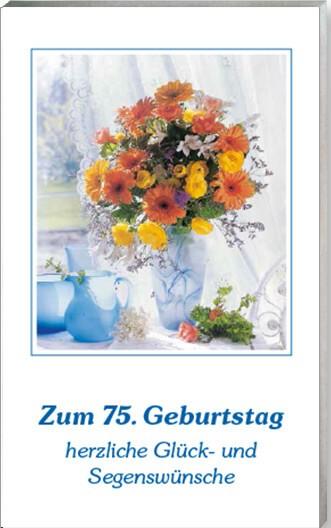 Zum 75 Geburtstag herzliche Glck und Segenswnsche  LOGO