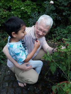 Belohnung aus dem Garten - Himbeeren