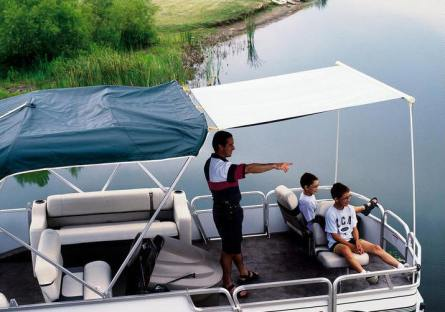 Boat safety: Shade boat