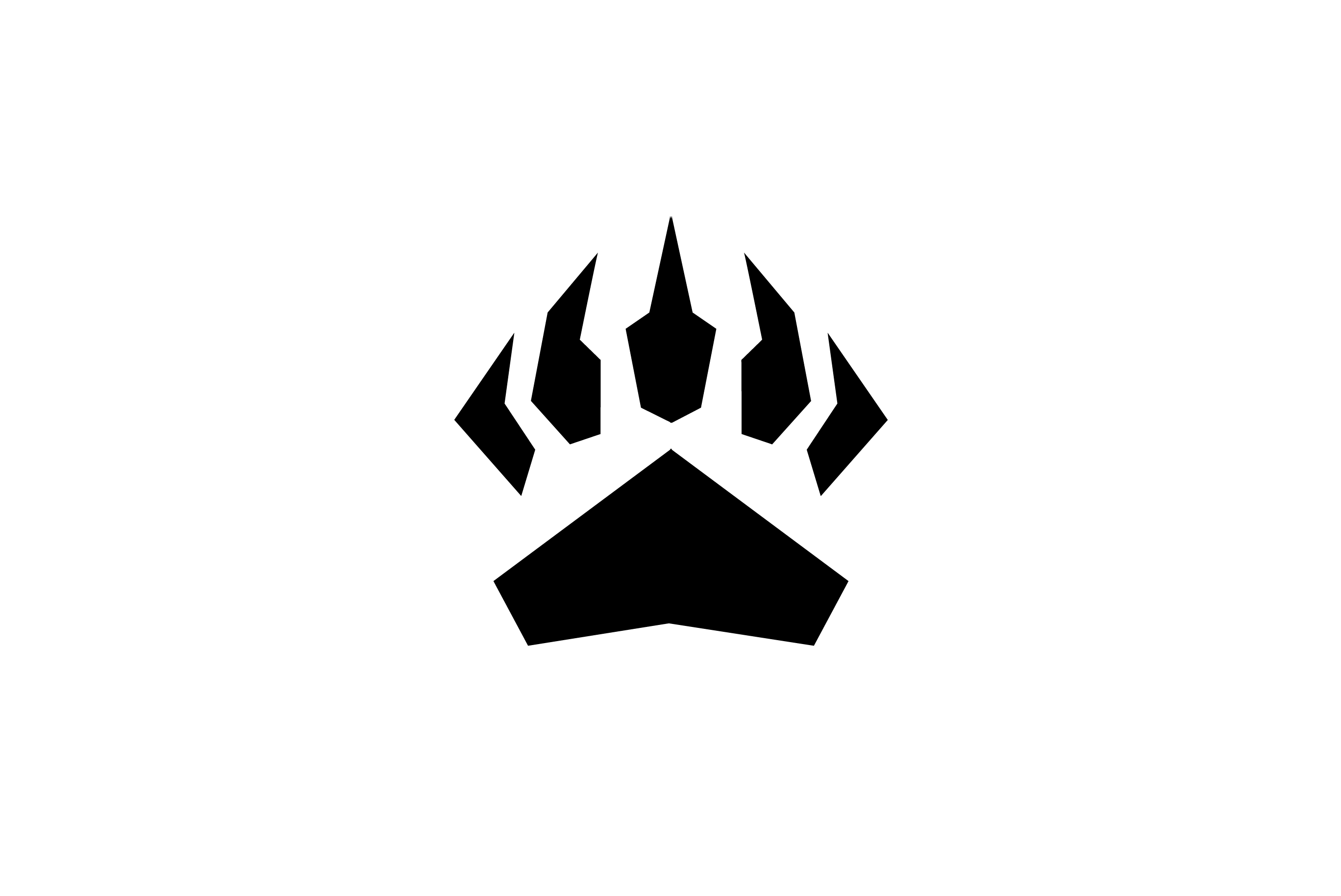 Bear Paw Logo Logo Cowboy
