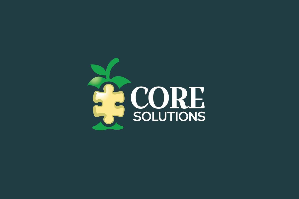 Core Solutions  Apple Core Logo  Logo Cowboy