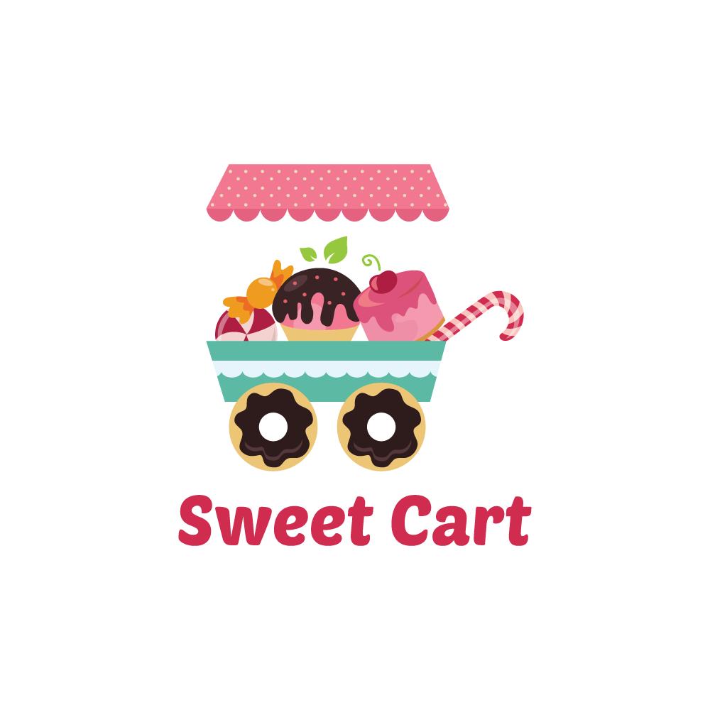 sweet cart logo design