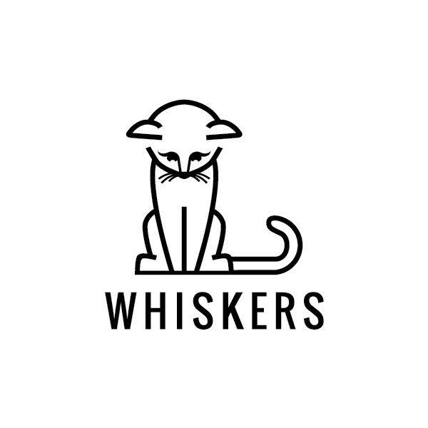 For Sale: Whiskers Cat Logo