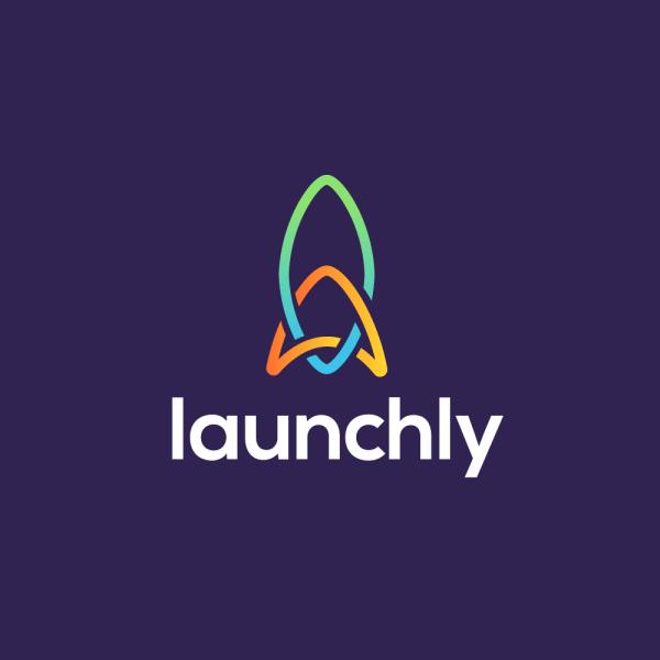Sold Launchly Rocket Chain Logo Design Cowboy