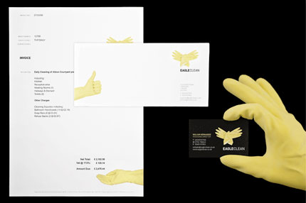 Eagle Clean stationery design