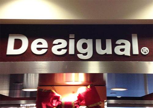 Desigual signage