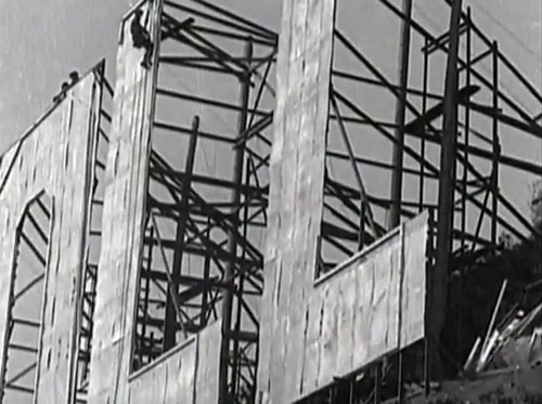 Hollywoodland sign construction
