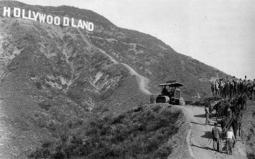 Hollywoodland sign