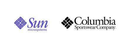 sun microsystems columbia sportswear logos