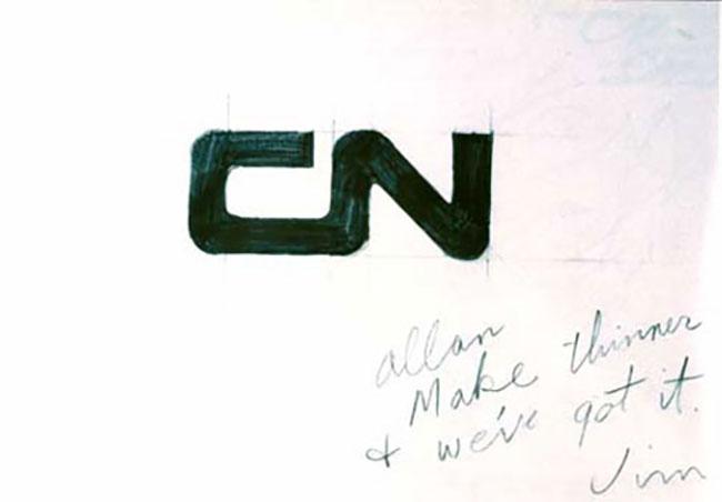 CN logo sketch