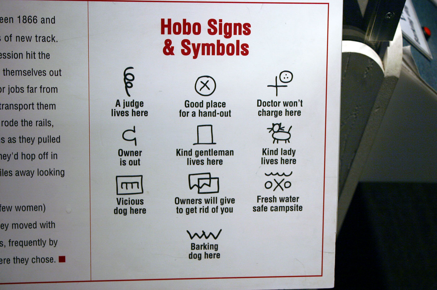 Hobo Signs And Symbols Code For The Road