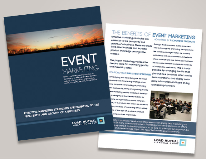 Corporate Event Brochure Seminar Brochure Design Financial Brochure Design