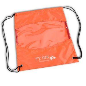 clear view drawstring bag