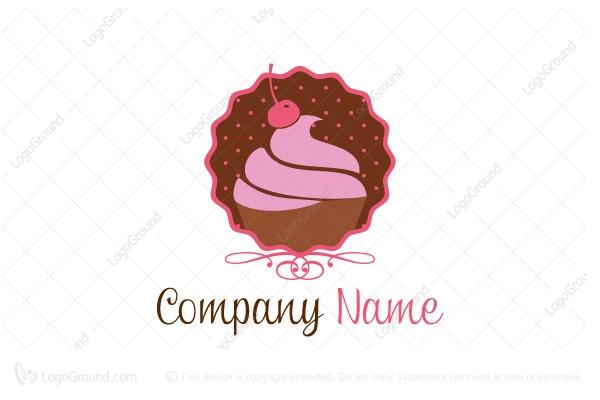 Cupcake Store Bakery Shop Logo