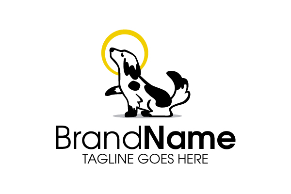 Cartoon Dog Running Logo