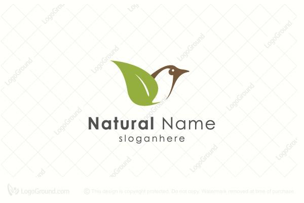 Natural Leaf  Bird Logo