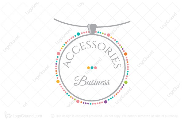 Necklace Accessories Business Logo