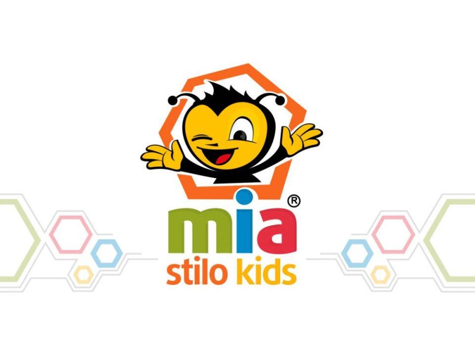 mia stilo kids bebek mağazası maskot tasarımı logosu