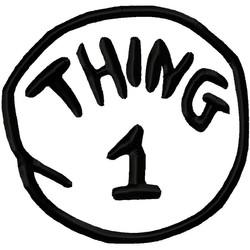 Thing one printable Logos