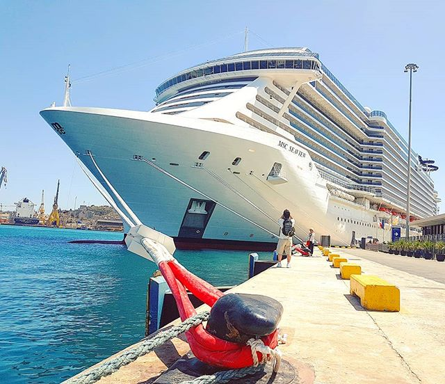 The majesty of MSC Seaview in her maiden call of today in La Valletta #malta #cruising #cruise #crew #sailing #travel #traveling #traveler #instatravel #instago #instagood #trip #photooftheday #instapassport #instatraveling #mytravelgram #travelgram #travelingram #igtravel #instalife #travelblog #sea #travelstoke