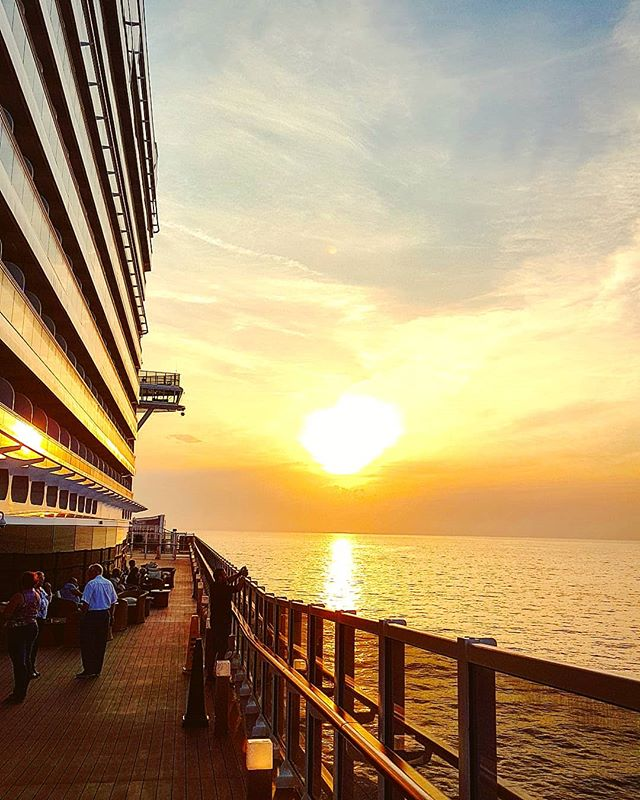Sailing towards Barcelona at sunset #mscseaview #msccruises #cruising #cruise #crew #sailing #travel #traveling #traveler #instatravel #instago #instagood #trip #photooftheday #instapassport #instatraveling #mytravelgram #travelgram #travelingram #igtravel #instalife #travelblog #sea #travelstoke