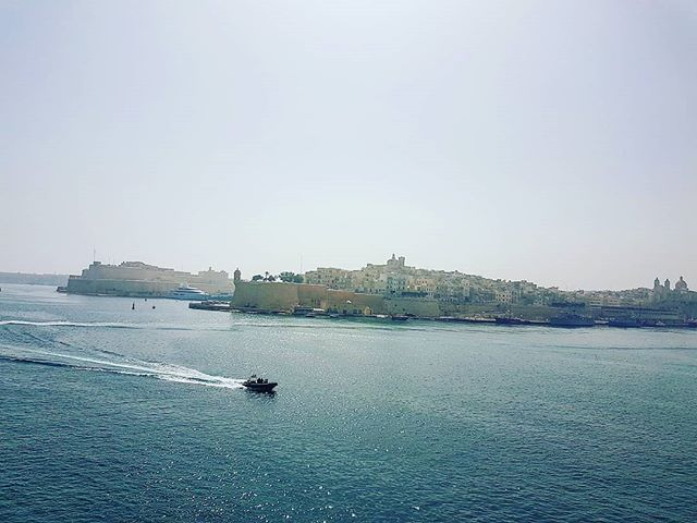 There's a light mist today over Malta #lavalletta #cruising #cruise #crew #sailing #travel #traveling #traveler #instatravel #instago #instagood #trip #photooftheday #instapassport #instatraveling #mytravelgram #travelgram #travelingram #igtravel #instalife #travelblog #sea #travelstoke