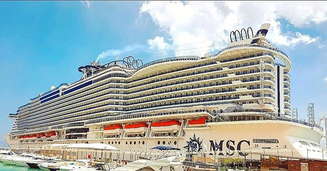 The unmistakable silhouette of MSC Seaview docked in Malta #mscseaview #msccruises #blueskies #cruising #cruise #crew #sailing #travel #traveling #traveler #instatravel #instago #instagood #trip #photooftheday #instapassport #instatraveling #mytravelgram #travelgram #travelingram #igtravel #instalife #travelblog #sea #travelstoke