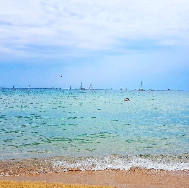 Regatta into the blue #barcelona #barceloneta #beach #cruising #cruise #crew #sailing #travel #traveling #traveler #instatravel #instago #instagood #trip #photooftheday #instapassport #instatraveling #mytravelgram #travelgram #travelingram #igtravel #instalife #travelblog #sea #travelstoke