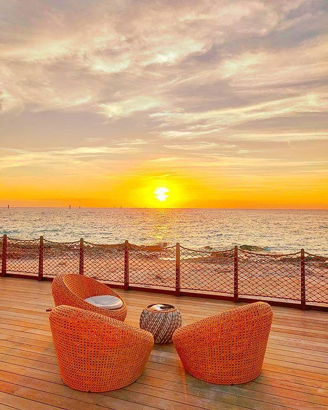 Sunset vibes ️🏝️🤙 #oceancay #msccruises #mscmarinereserve #sunsets #travelingram #travelawesome #sunset_pics #islandlife #prilaga #island #islands #seascape #travelphotography #travelblogger #traveladdict #sunset_madness #travel #travelstoke #sea #sunsetlover #seaworld #traveler #travelgram #sunset #travellife #traveling #travels #sunsetlovers