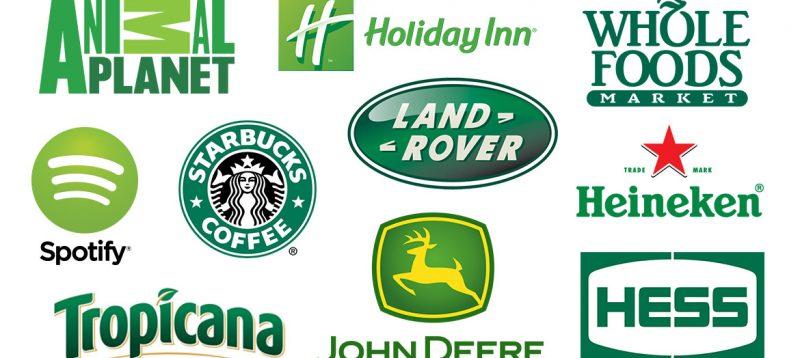 Perusahaan dengan logo hijau