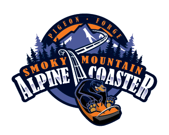 If you have the need for speed, the alpine coaster is ready! Smoky Mountain Alpine Coaster Logo Design