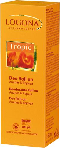 Αποσμητικό roll-on με ανανά & παπάγια