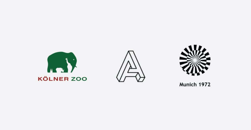 optical illusion logos for website