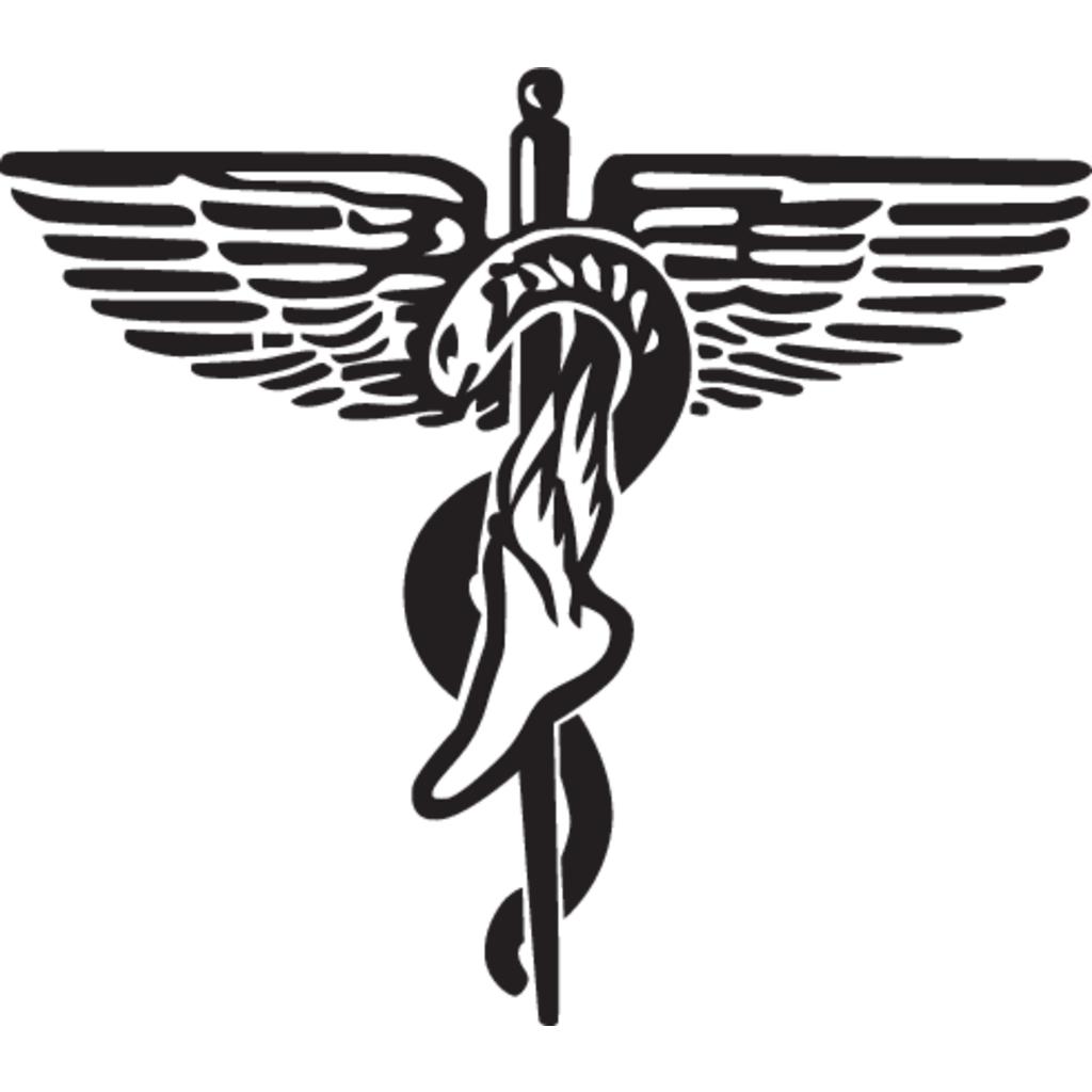 Podiatry Caduceus logo, Vector Logo of Podiatry Caduceus