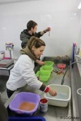Mise en capsules des œufs de saumons