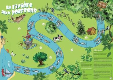 """Jeu de plateau """"La Rivière aux poissons"""""""