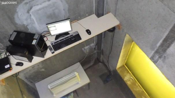 Matériel de vidéo-compatge dans la station de comptage de Moulin Breland