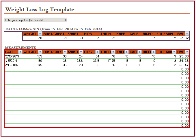 weight log template muco tadkanews co